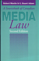 A Sourcebook of Canadian Media Law