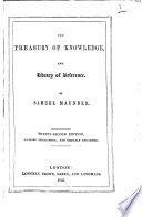 The treasury of knowledge     Sixteenth edition     greatly enlarged Book