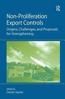 Non proliferation Export Controls