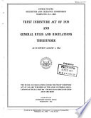 Trust Indenture Act Of 1939 And General Rules And Regulations Thereunder