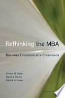 Rethinking The Mba