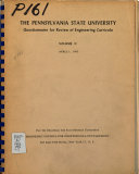The Pennsylvania State University Questionnaire for Review of Engineering Curricula