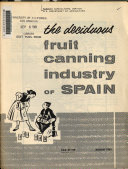 The Deciduous Fruit Canning Industry of Spain