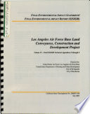 Los Angeles Air Force Base (AFB), Land Conveyance, Construction, and Development