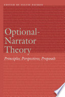 Book cover for Optional-narrator theory : principles, perspectives, proposals