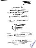 Preprints of the Annual Automotive Technology Development Contractors' Coordination Meeting Pdf/ePub eBook