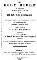 """The Holy Bible ... Stereotype Edition. [With the """"Porteusian Index"""" Prefixed.]"""
