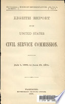 Eighth Report Of The United States Civil Service Commission