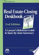 Real Estate Closing Deskbook Book PDF