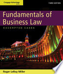 Cengage Advantage Books Fundamentals Of Business Law Excerpted Cases PDF