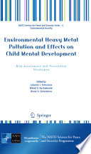 Environmental Heavy Metal Pollution And Effects On Child Mental Development Book PDF