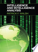 Intelligence and Intelligence Analysis Book