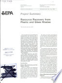 Resource Recovery from Plastic and Glass Wastes Book