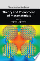 Theory and Phenomena of Metamaterials Book