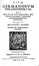 Vitae Germanorum philosophorum