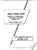 Collapse of U S  35 Highway Bridge  Point Pleasant  West Virginia  December 15  1967
