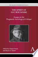 The Spirit of Luc Boltanski