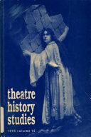 Theatre History Studies
