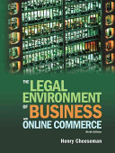 The Legal Environment Of Business And Online Commerce Book