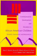 Communication Development and Disorders in African American Children Book