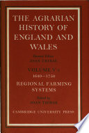 Agrarian History Of England And Wales 1750 1850 Part 1