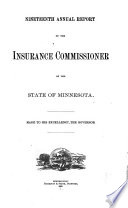 Report of the Commissioner of Insurance Book PDF