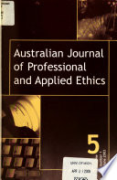 Australian Journal of Professional and Applied Ethics