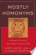 Mostly Homonyms Book PDF