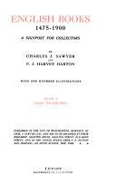 English Books 1475 1900  Gray to Kipling