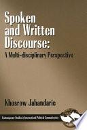 Spoken and Written Discourse