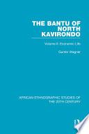 The Bantu of North Kavirondo