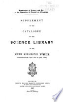 Catalogue of the Science Library in the South Kensington Museum