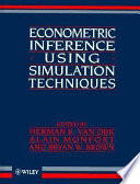 Econometric inference using simulation techniques