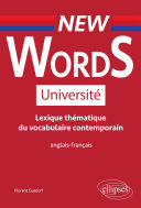 Pdf New Words Université. Lexique thématique de vocabulaire contemporain anglais-français Telecharger