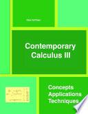 Contemporary Calculus III