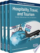 Hospitality Travel And Tourism Concepts Methodologies Tools And Applications