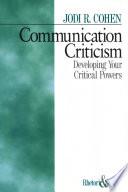 Communication Criticism