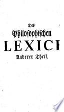 Johann Georg Walchs philosophisches Lexicon