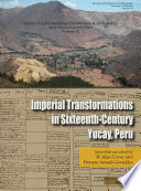 Book cover for Imperial transformations in sixteenth-century Yucay, Peru