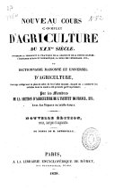Nouveau cours complet d'agriculture du XIXème siècle ou Dictionnaire raisonné et universel d'agriculture