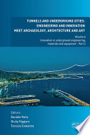 Tunnels and Underground Cities  Engineering and Innovation Meet Archaeology  Architecture and Art Book