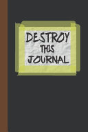 Destroy This Journal Book
