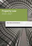 Property Law 2020 2021