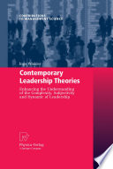 Contemporary Leadership Theories Book