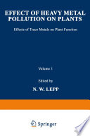 Effect of Heavy Metal Pollution on Plants Book