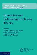 Geometric and Cohomological Group Theory