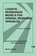 Logistic Regression Models for Ordinal Response Variables