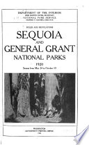 Rules And Regulations Sequoia And General Grant National Parks