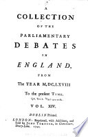 A Collection Of The Parliamentary Debates In England Book PDF