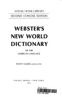 Webster s New World Dictionary of the American Language